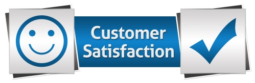 Customer Satisfaction Blue Grey Horizontal