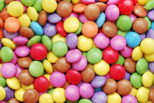 colorful candy background closeup detail